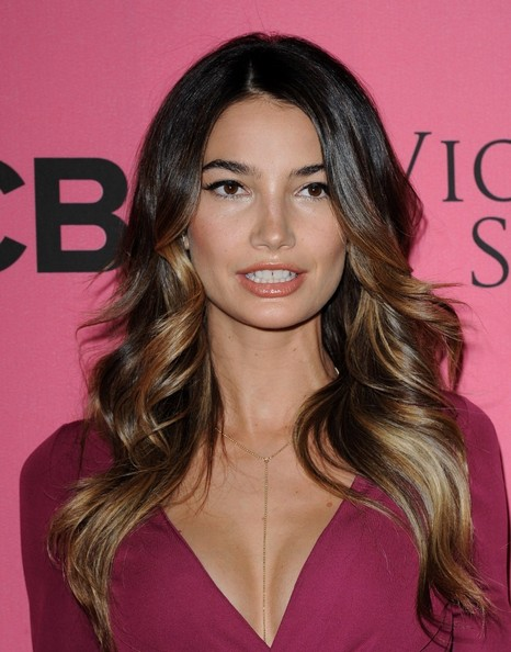 More Angles of Lily Aldridge Nude Lipstick