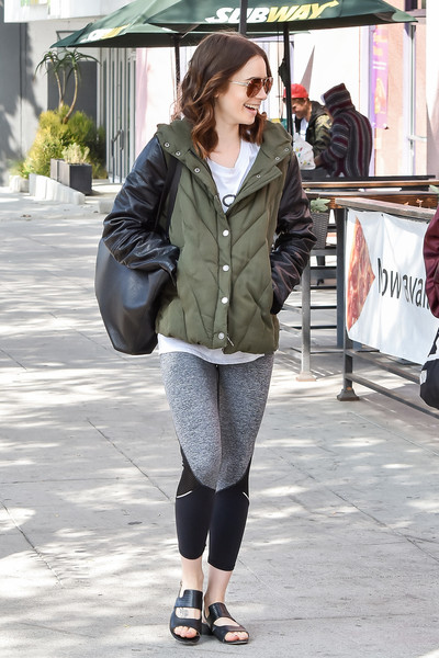Lily Collins Down Jacket []
