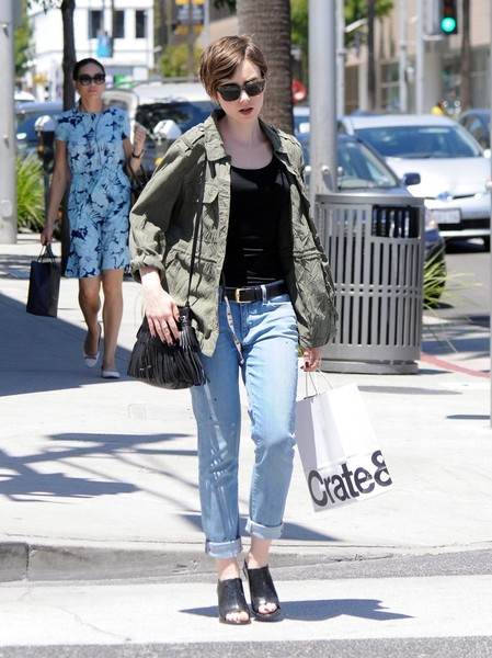 Lily Collins Slide Sandals Are The Summer Footwear Trend We Can't Get Enough Of []