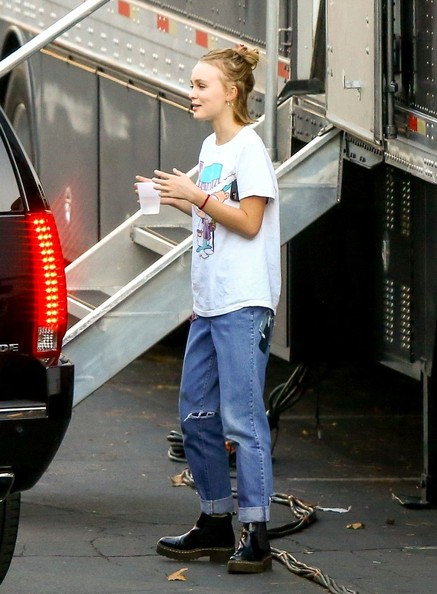 More Pics of Lily-Rose Depp Ripped Jeans (2 of 38) - Jeans Lookbook - StyleBistro []