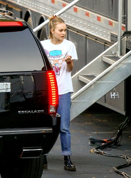More Pics of Lily-Rose Depp Ripped Jeans (5 of 38) - Jeans Lookbook - StyleBistro []