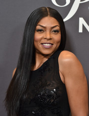 Taraji P. Henson worked a pin-straight, center-parted style at the 'Lip Sync Battle LIVE: A Michael Jackson Celebration.'