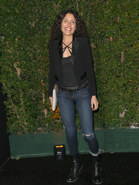Lisa Edelstein Motorcycle Boots