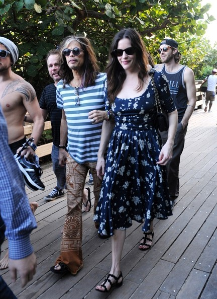 Steven and Liv Tyler Spend the Day in Miami