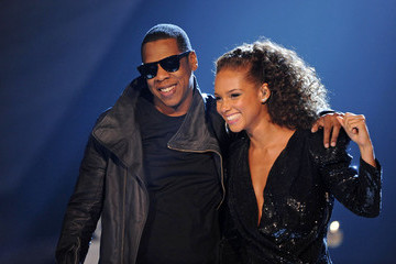 Alicia Keys Jay-Z Live on stage at Brit Awards