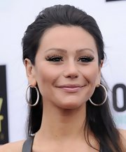 JWoww rocked the nude lip trend with this nude color that had a slightly pink undertone.