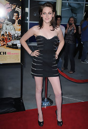 Kristen Stewart wore a dark patent leather polish at the premiere of 'Love Ranch.'