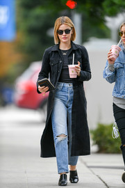 Lucy Hale rocked ripped jeans and denim coat while out in LA.