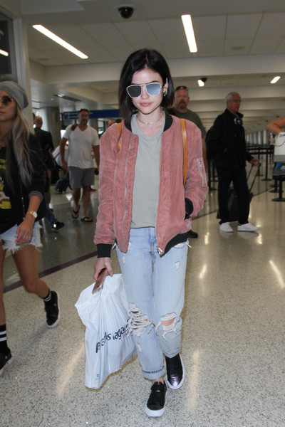 Lucy Hale Bomber Jacket []
