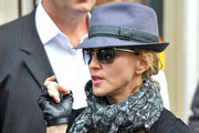 Madonna sports baggy pants as she resumes shooting her film project