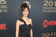 Maggie Siff One Shoulder Dress