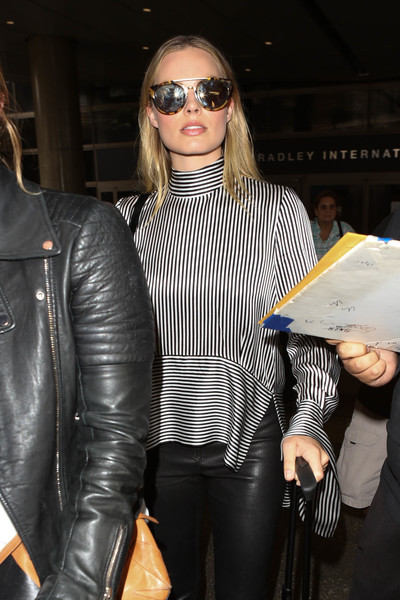 Margot Robbie Round Sunglasses []