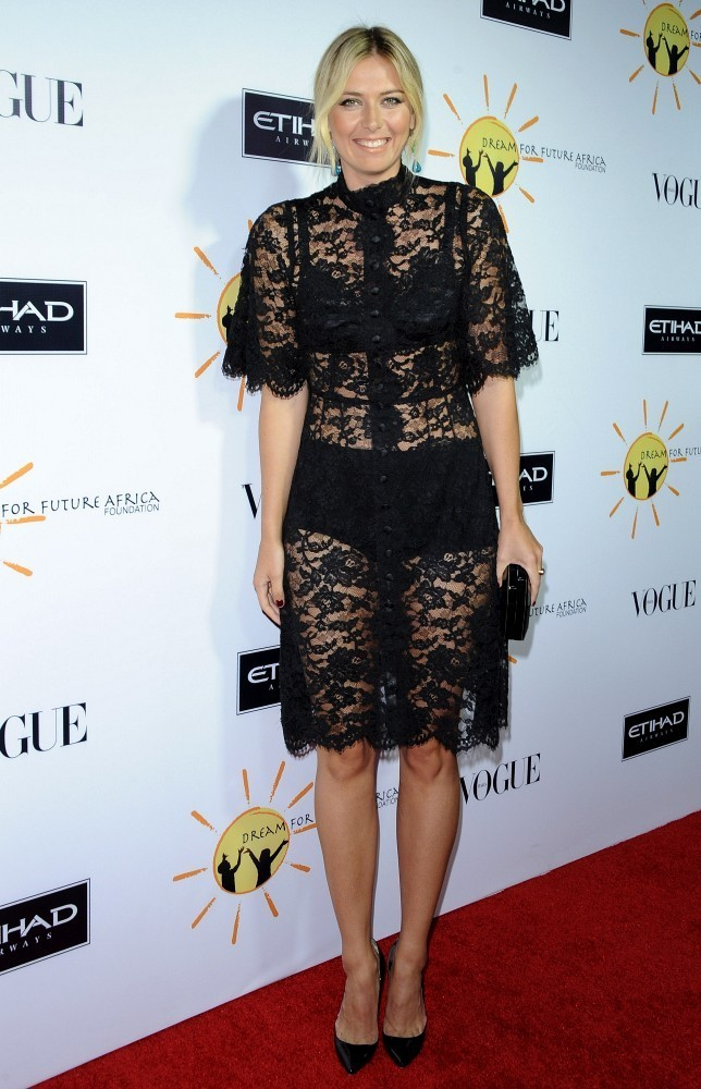Maria Sharapova Little Black Dress Maria Sharapova Looks