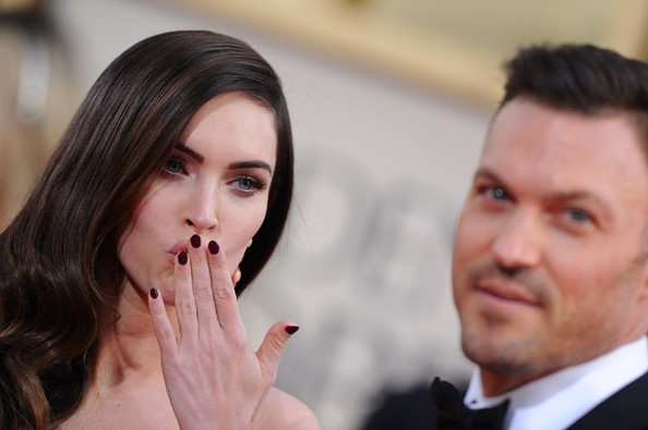Megan Fox Dark Nail Polish