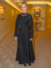 Melanie Griffith donned a flowing black gown for Opernball 2018.