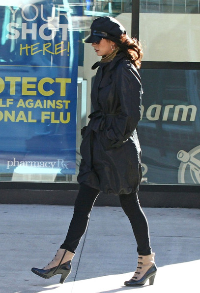 Catherine Zeta Jones looks vintage chic in ankle boots that remind us of spats.