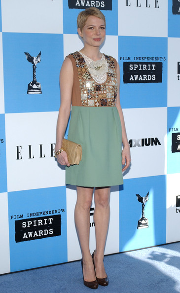 Michelle Williams Leather Clutch []