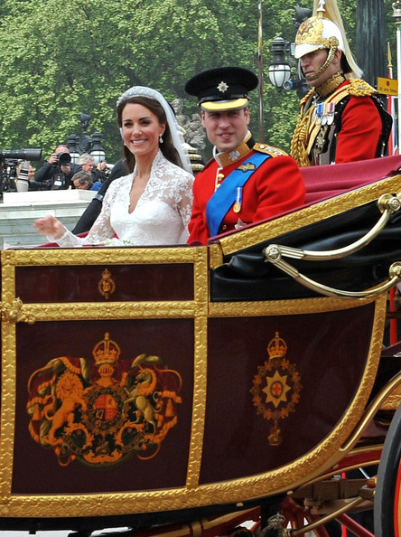 Kate+Middleton in Kate Middleton and Prince William Leave Buckingham Palace