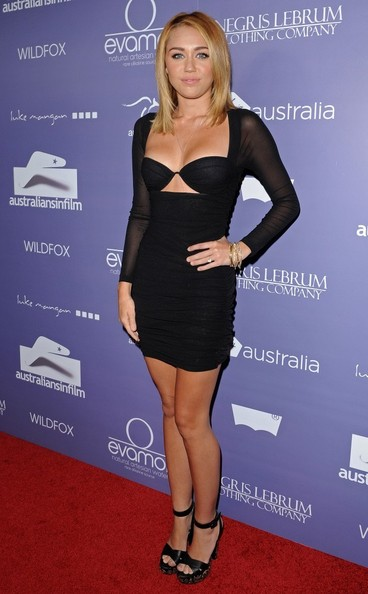 Miley Cyrus Little Black Dress