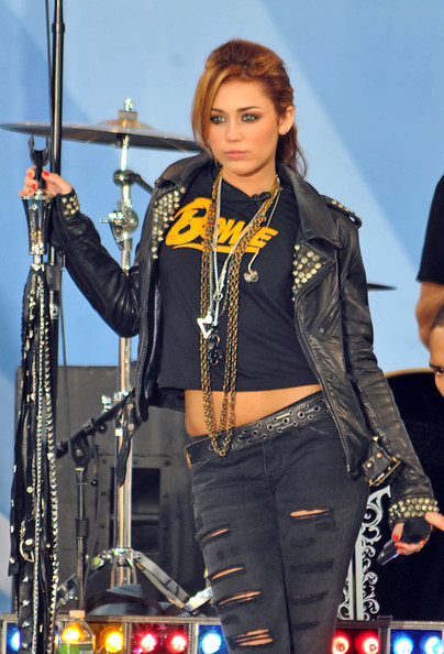 Miley Cyrus Leather Jacket []