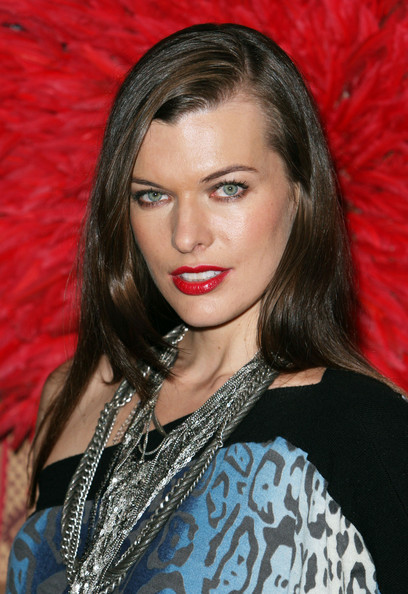 Milla Jovovich Long Side Part
