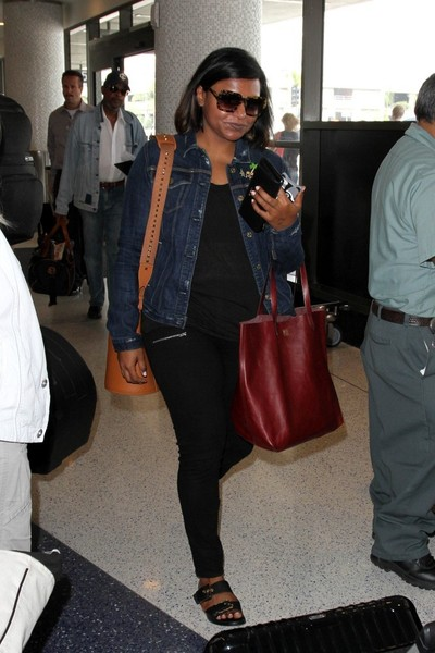 Mindy Kaling Leather Tote []