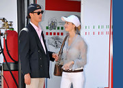 Beatrice Borromeo kept it casual in her white baseball cap at the 2011 Grand Prix in Monaco.