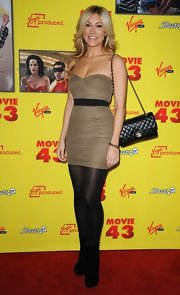 Jackie showed off her fit figure at the 'Movie 43' premiere in this strapless ruched mini.
