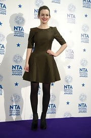Sophie looked so cute in this elbow-length flared dress at the National Television Awards.