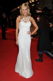 Ashley turned up at the National Television Awards in a glamorous and sophisticated white gown with gorgeous beaded detailing.