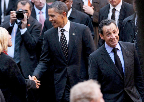 Obama and Sarkozy Honor Armed Services