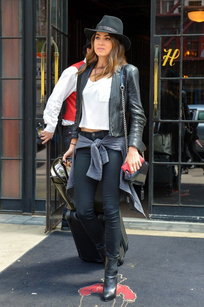 More Pics of Nikki Reed Leather Jacket (4 of 8) - Leather Jacket