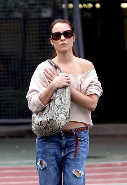 Noomi Rapace Leather Hobo Bag