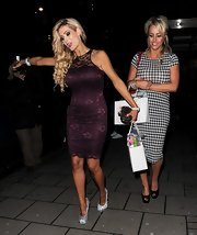 Nicola McLean oozed hotness in a lace dress at the OK! Magazine party.