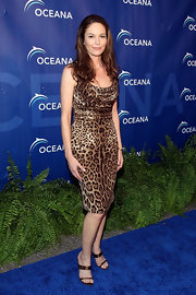 Diane Lane rocked the red carpet in an animal-print cocktail dress. Diane finished the look with tousled locks.