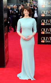 Gemma Arterton's figure-hugging pastel-blue Prada dress at the Olivier Awards was oh-so-elegant in its simplicity.