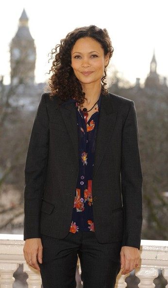 More Pics of Thandie Newton Medium Curls (4 of 12) - Hair Lookbook - StyleBistro