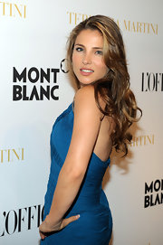 Actress Elsa Pataky flaunted her long voluminous curls while hitting a party in Cannes.