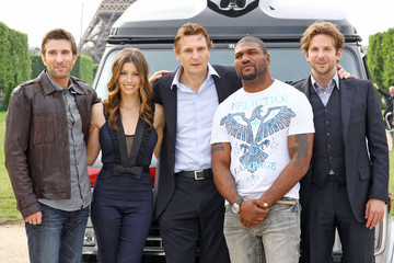Jessica Biel Sharlto Copley Photocall for 'A-Team'