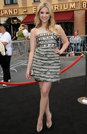 Ashley was a doll at the 'Pirates of the Caribbean' premiere in a jeweled frock.