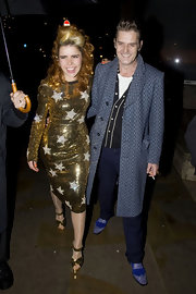 Paloma Faith glittered at the Playboy Club Christmas party in a gold sequined star dress.