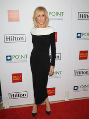 Judith Light attended the Point Honors Los Angeles event wearing a fitted black dress with a contrast yoke.