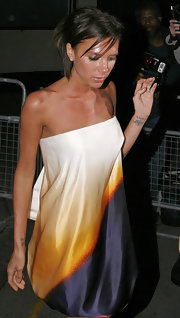 "Spice Girl Victoria Beckham has several tattoos, including this ""DB"" (for David Beckham) in script on her left wrist."