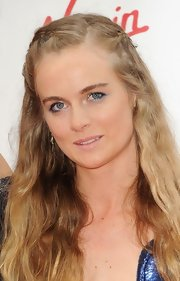 Cressida Bonas looked boho-chic at the pre-Wimbledon party with this long wavy braided hairstyle.
