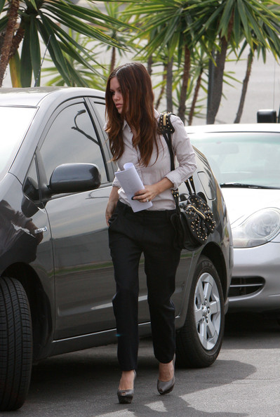 Rachel Bilson Studded Shoulder Bag