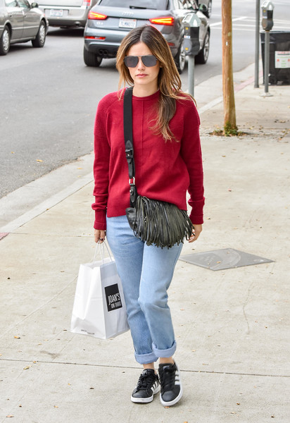 More Pics of Rachel Bilson Leather Sneakers (1 of 9) - Athletic Shoes Lookbook - StyleBistro []