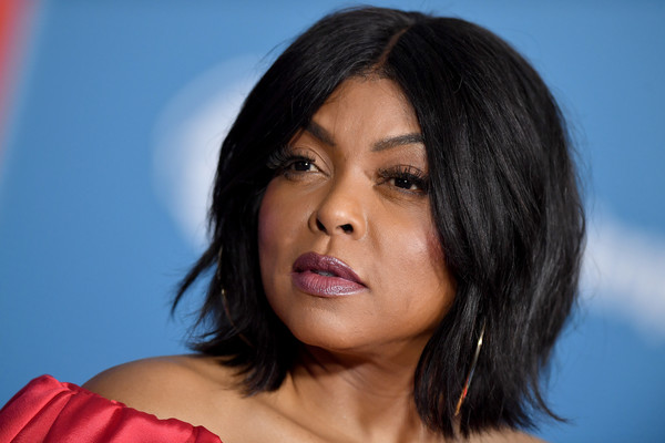 Taraji P. Henson wore her hair in a center-parted bob at the premiere of 'Ralph Breaks the Internet.'