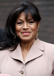 Rebbie Jackson's side swiped hairstyle looked beautiful outside the London Studios.