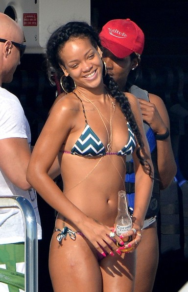 Rihanna Long Pigtails