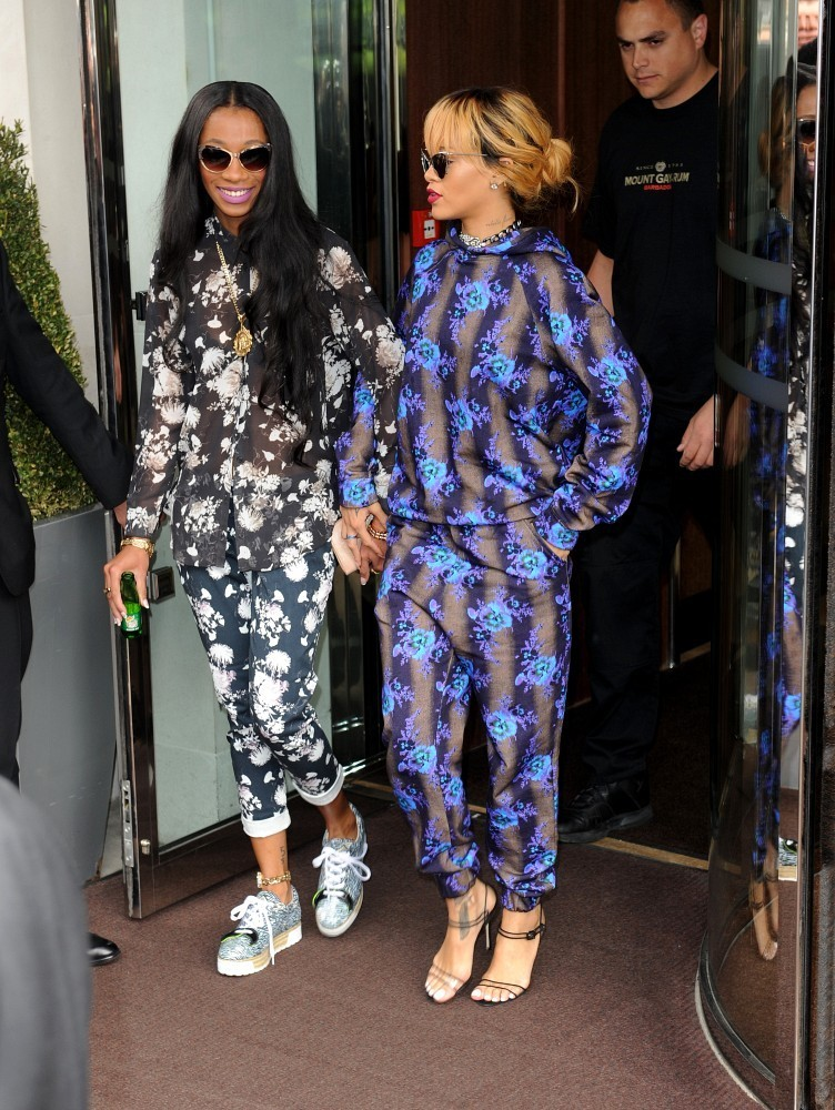 Rihanna Wears a Jumpsuit in London